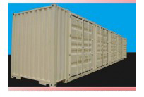 Container Open side 45 feet 4 bộ cửa